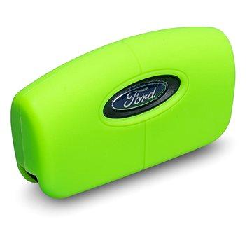 Ochranné silikonové pouzdro na klíč pro zahnutý klíč Ford, barva zelená (SZBE-046G)