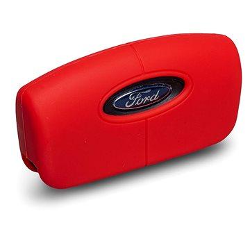 Ochranné silikonové pouzdro na klíč pro zahnutý klíč Ford, barva červená (SZBE-046R)