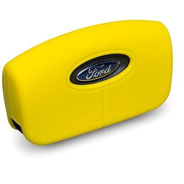 Ochranné silikonové pouzdro na klíč pro zahnutý klíč Ford, barva žlutá (SZBE-046Y)