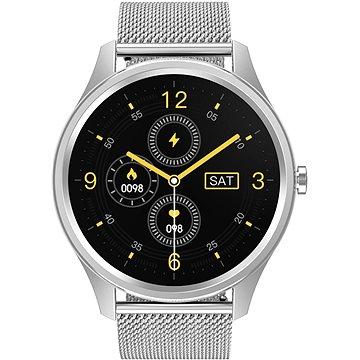 ARMODD Silentwatch 3 stříbrná + modrý silikonový řemínek zdarma (8595683500869)