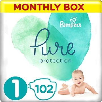 PAMPERS Pure Protection vel. 1 (102 ks) (8001090971982)