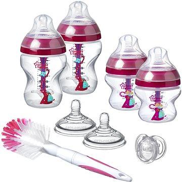 Tommee Tippee Sada kojeneckých lahviček C2N ANTI-COLIC s kartáčem Pink (5010415227133)