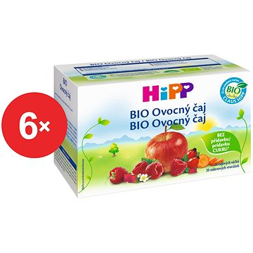 HiPP BIO Ovocný čaj - 6× 40 g (4062300281868)