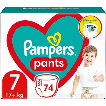 PAMPERS Pants vel. 7 (74 ks) – Mega Pack (8006540069622)