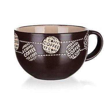BANQUET Hrnek keramický jumbo COFFE 660 ml, hnědý, 4ks (60220055)