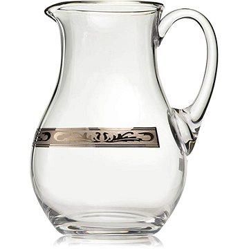Bohemia Crystal Džbán s platinovým dekorem 1500ml (8593410916822)