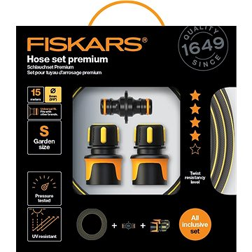 "FISKARS Sada zavlažovací hadice Premium 3/8"" 15 m se spojkami (1027101)"
