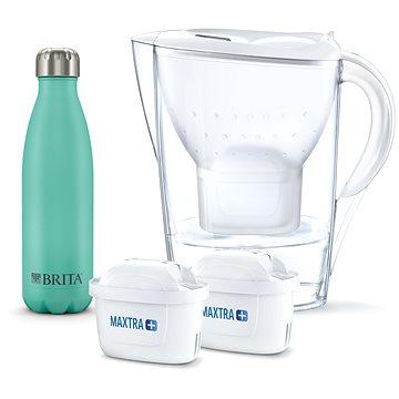 BRITA Marela bílá vč. 2MXplus + termo lahev (1043007)