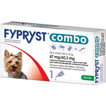 Fypryst Combo spot on pes 2-10 kg 1 × 0,67 ml (3838989680336)