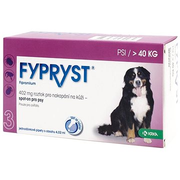 Fypryst spot on pes nad 40 kg XL 1 × 4,02 ml (5909990859290)