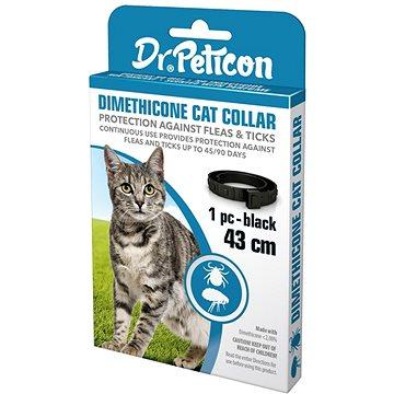 DR.Peticon obojek proti klíšťatům a blechám pro kočky (5999557410866)