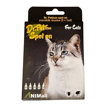 DR.Peticon Pipeta proti klíšťatům a blechám pro kočky 5 × 1 ml (5999557410880)