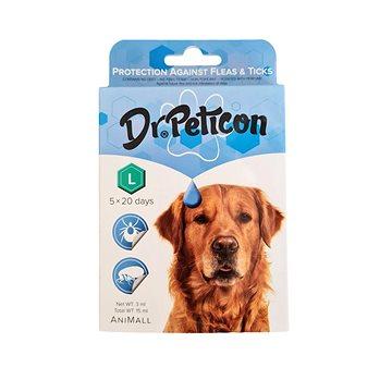 DR.Peticon Pipeta proti klíšťatům a blechám pro velké psy 5 × 3 ml (5999557410798)