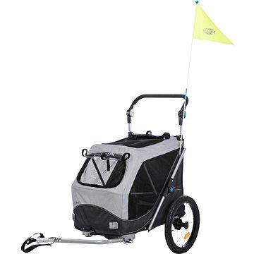 Trixie Vozík za jízdní kolo šedý 58 × 93 × 74/114 cm (4011905127941)