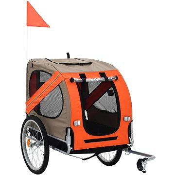 Shumee Vozík za kolo pro psa hnědo-oranžový (8718475718055)