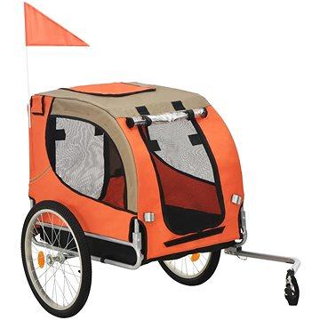 Shumee Vozík za kolo pro psa oranžovo-hnědý (8718475718086)