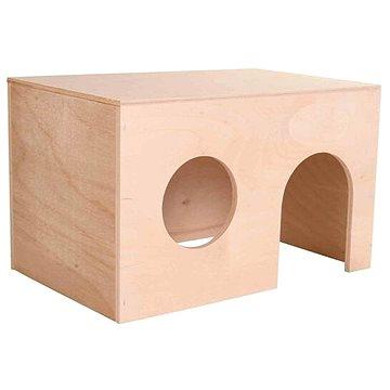 Trixie Dřevěný domek s rovnou střechou pro morčata 24 × 15 × 15 cm (4011905608617)
