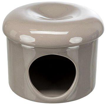 Trixie Keramický domek s odnímatelnou stříškou 16 × 12 cm tmavošedá (4047974613627)