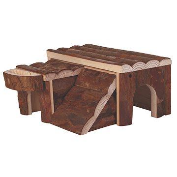 Trixie Dřevěný domek Luka pro křečka 14 × 7 × 14 cm (4011905061733)