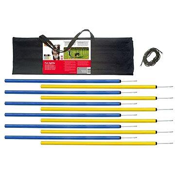 Karlie Agility Slalom žlutá/modrá 12 × 100 cm (4016598318553)