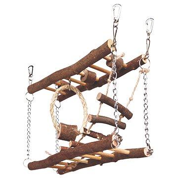 Trixie Natural Living Most dřevěný dvojitý pro myši a křečky 27 × 17 × 7 cm (4011905616506)