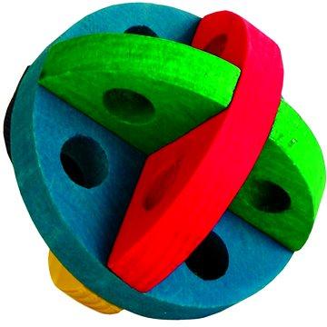 Trixie Míček na pamlsky barevný dřevěný 8 cm (4011905061856)