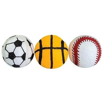 Trixie Hiphop Dog Sportovní míček pískací 6,5cm 3ks (8596410163630)