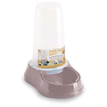 Stefanplast Break Miska na vodu a granule se zásobníkem růžová 0,65l (8003507040946)