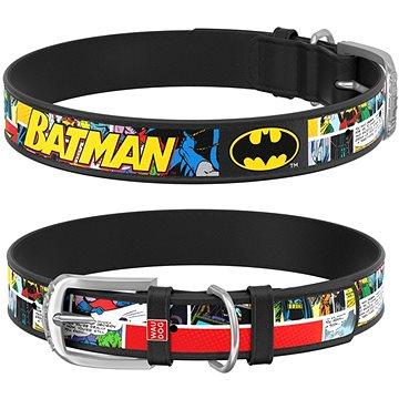 Waudog Obojek kožený DC Batman komiks 26-35 cm/1,5 cm (4823089323480)
