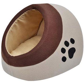 Shumee Teplý kočičí pelíšek flísový hnědý XL (8718475933748)