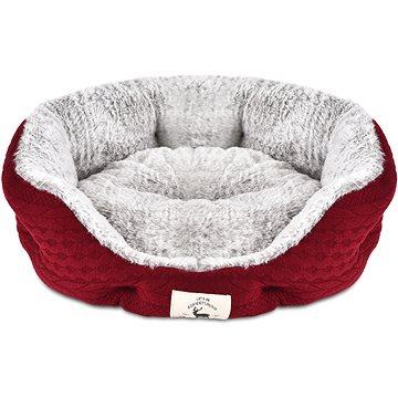 PetProducts Psí pelíšek oválný červený 70 × 65 cm (8594202650825)