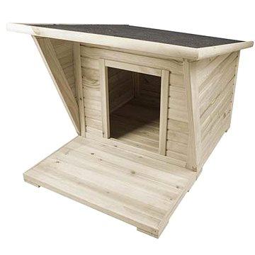 Duvo+ Dřevěná bouda pro psy 110 × 85 × 75cm (5414365363048)