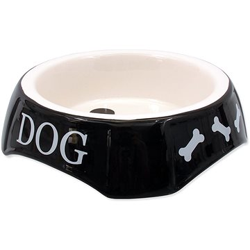 DOG FANTASY Miska potisk Dog černá 18,5 × 5,5 cm (8595091780709)
