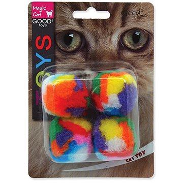 MAGIC CAT hračka míček 3,75 cm 4 ks (8595091786206)