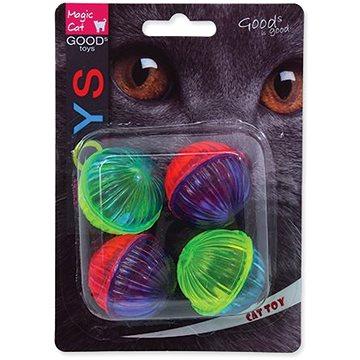 MAGIC CAT hračka míček lesklý plast se zvukem 3,75 cm 4 ks (8595091786404)