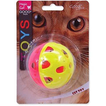 MAGIC CAT hračka míček neon jumbo s rolničkou 6 cm (8595091786428)