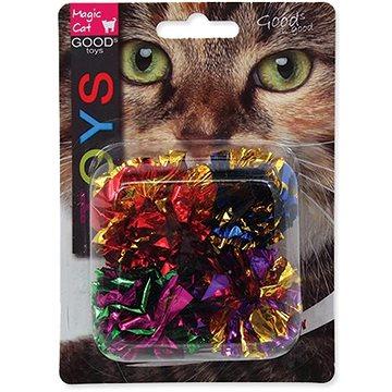 MAGIC CAT hračka míček s třásněmi lesklý 3,75 cm 4 ks (8595091786442)