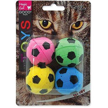 MAGIC CAT hračka míček pěnový fotbalový 3,75 cm 4 ks (8595091786435)