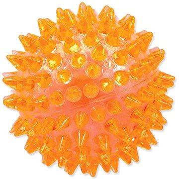 DOG FANTASY hračka míček pískací oranžová 6 cm (8595091781201)
