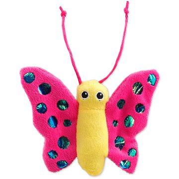 MAGIC CAT hračka motýl plyš s catnip mix 13 cm (8595091794577)