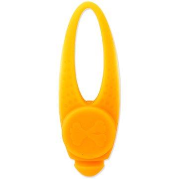 DOG FANTASY Přívěsek LED silikon oranžový 8 cm (8595091797073)