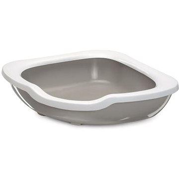 IMAC Rohový Kočičí záchod s vysokým okrajem - béžový - D 51 × Š 51 × V 15,5 cm (8021799413637)