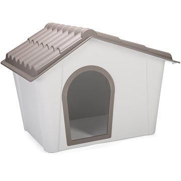 IMAC Bouda pro psa plastová - šedá/hnědá - D 98,5 77,5×V 72,5 cm (8021799415327)