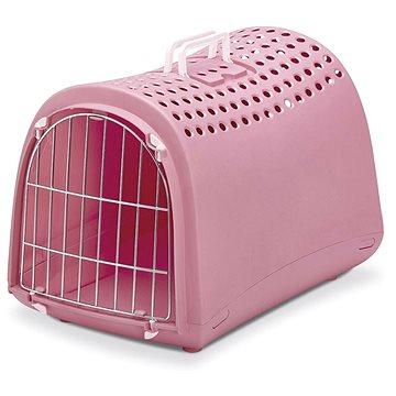 IMAC Přepravka pro psa a kočku plastová - růžová - D 50 x Š 32 x V 34,5 cm (8021799403850)