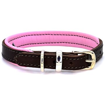 Dogs & Horses Padded Leather Pink ML (0617215148450)