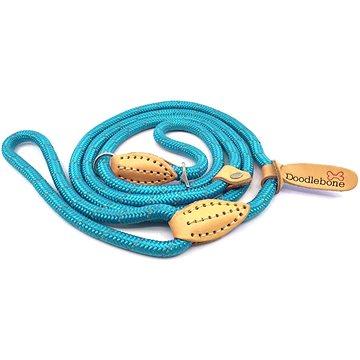 Stahovací lanové vodítko Doodlebone Neon Blue (0702811586581)