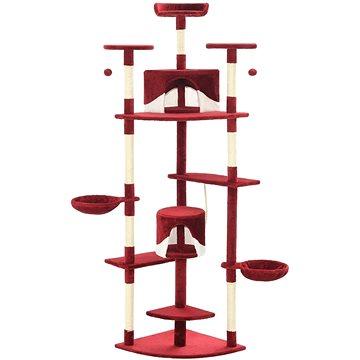 Shumee Škrabadlo sisalové sloupky bílé a červené 203 cm (8718475598381)