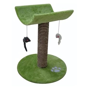 Cobbys Pet Catty Kočičí škrábadlo s lehátkem a hračkami zelené 53 cm (8592151102853)
