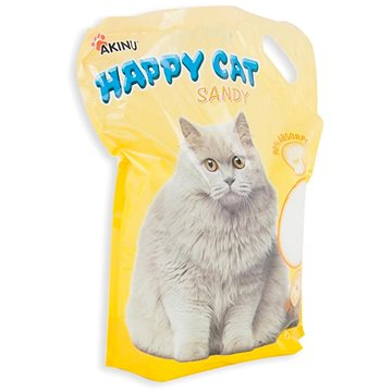 Akinu Happy Cat 7,2l Sandy (jemný 0,5 - 2 mm) (8595184929633)