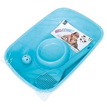 Cobbys Pet Welcome Kit startovací balíček pro koťata 37 × 27 × 8,5 cm (WC, lopatka, miska, míč) (8016040805002)